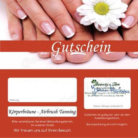 Körperbräune - Airbrush Tanning - Geschenkgutschein
